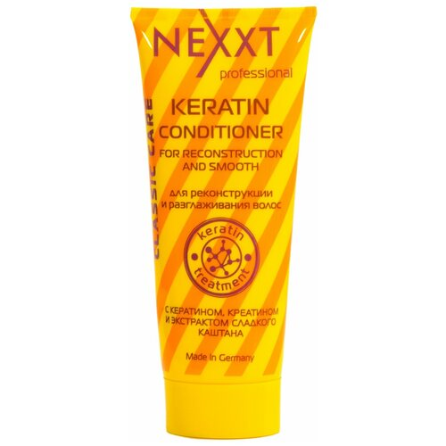 Фото - Nexprof кератин-кондиционер Classic care для реконструкции и разглаживания волос, 200 мл nexprof кондиционер classic care volume для объема волос 200 мл