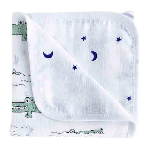 Купить Одеяло Mjolk Крокодилы/Звезды 80х80 см белый, Покрывала, подушки, одеяла