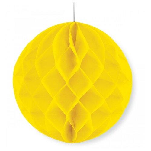 Веселый хоровод Бумажный шар желтый