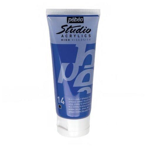 Купить Краска акриловая Pebeo Studio Acrylics (Кобальт синий), 100 мл, Краски