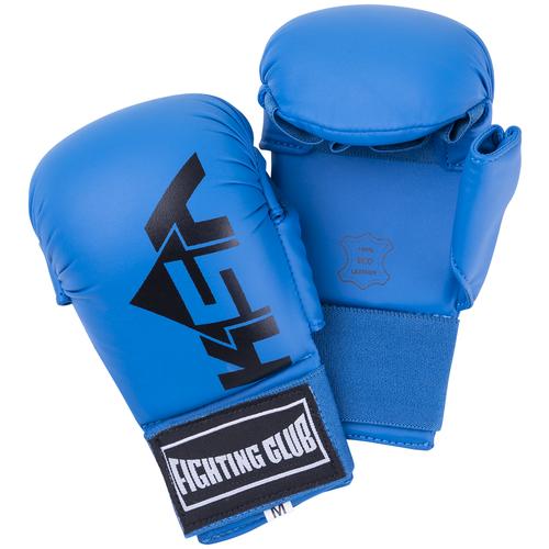Накладки для карате Ksa Kick Blue, к/з, детский размер XS