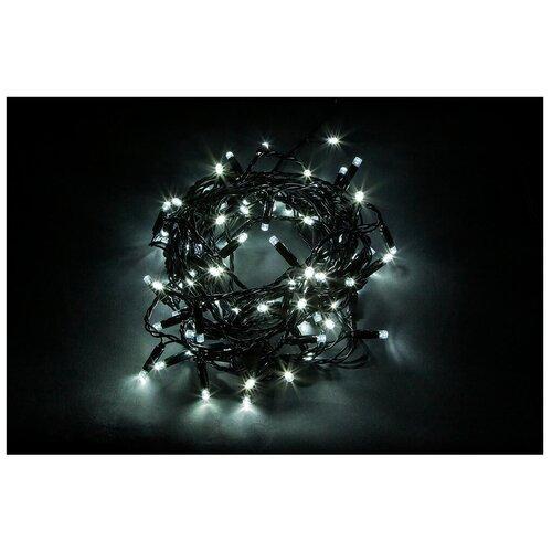 Гирлянда Feron Нить CL34 1000 см, 100 ламп, белый/черный провод гирлянда feron нить cl34 1000 см 100 ламп теплый белый черный провод
