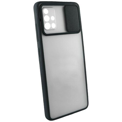 Защитный чехол с защитой камеры для Samsung Galaxy A51 / на Самсунг Гелакси А51 / бампер / накладка / Черный