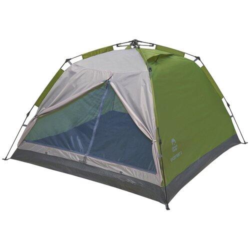 Палатка двухместная, автоматическая JUNGLE CAMP Easy Tent 2, цвет: зеленый/серый палатка jungle camp vermont 2 зеленый 70824