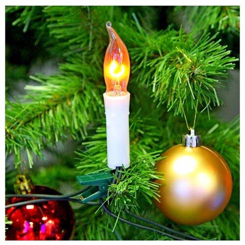 Гирлянда Sh Lights Мерцающие свечи, 270 см, IE12-04010, 10 ламп, красные диоды/зеленый провод