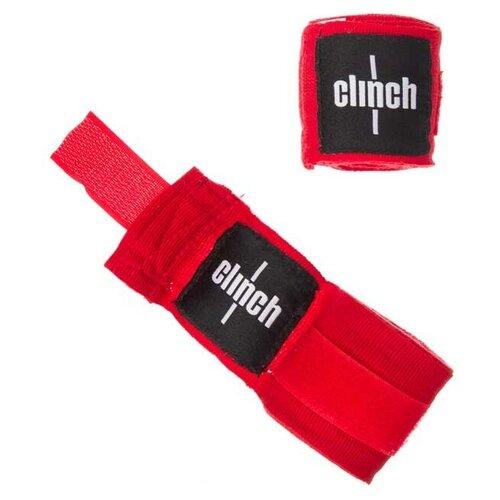 Кистевые бинты Clinch Boxing Crepe Bandage Punch 350 см красный