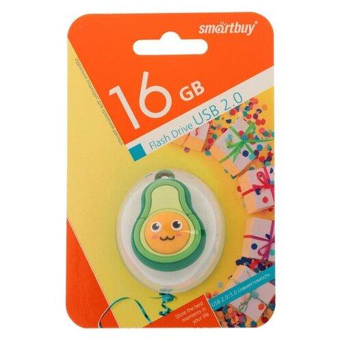 """Флешка Smartbuy Wild series """"Авокадо"""" 16 Гб USB2.0 чт до 25 Мб/с зап до 15 Мб/с 6711948"""
