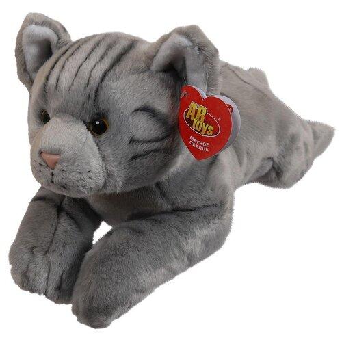 Мягкая игрушка ABtoys Домашние любимцы Котик серый, 35 см игрушка мягкая