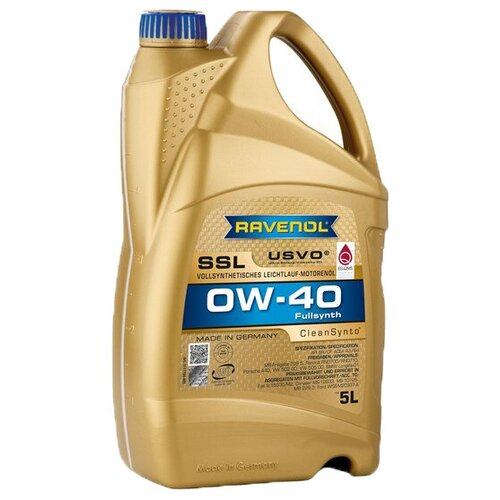 Синтетическое моторное масло Ravenol Super Synthetik Öl SSL SAE 0W-40 5 л моторное масло ravenol super synthetik öl ssl sae 0w 40 5 л