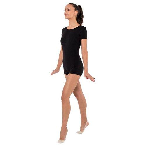 Купальник х/б с шортами, короткий рукав, цвет черный (р.40) 1431670