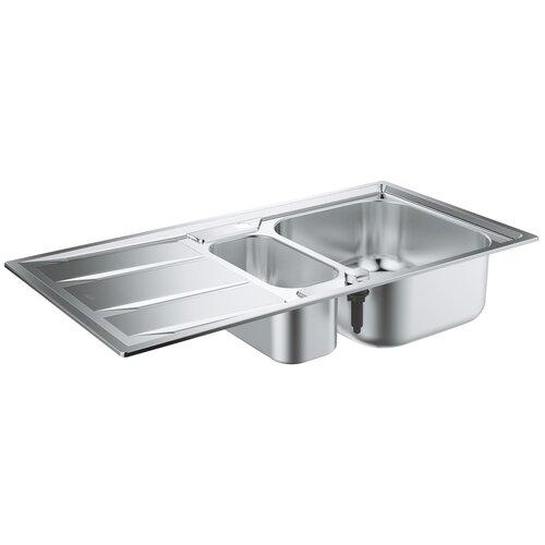 Врезная кухонная мойка 97 см Grohe K400 31567SD0 нержавеющая сталь врезная кухонная мойка 87 3 см grohe k400 31568sd0 нержавеющая сталь