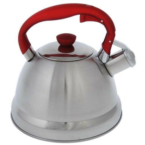 Vetta Чайник Верда 847067 2 л, серебристый/красный чайник vetta глянец 847069 2 7 л
