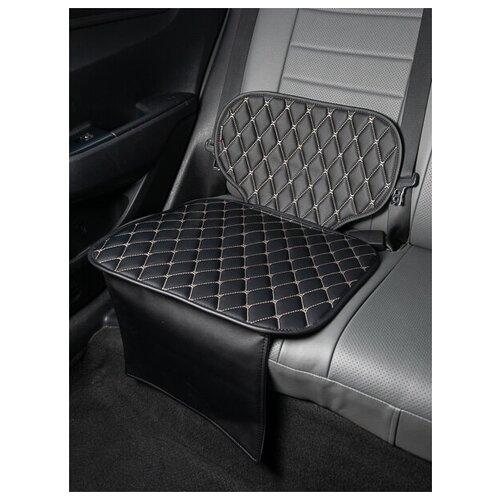 Чехлы (накидки) под бустеры. Защита сидений авто. Цвет: черный. 1 шт. ЖЕМЧУЖНЫЙ РОМБ