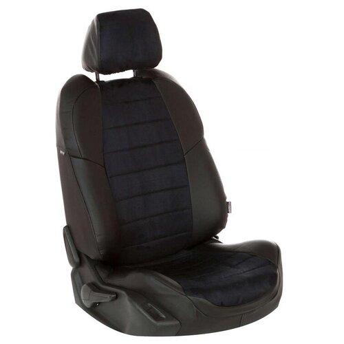 Комплект чехлов АВТОПИЛОТ из алькантары для Ravon Nexia R3/Chevrolet Aveo черный