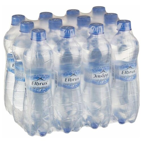 Вода минеральная Эльбрус газированная, ПЭТ, 12 шт. по 0.5 л