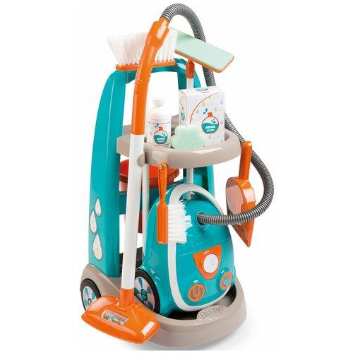 Тележка для уборки Smoby с пылесосом 330309