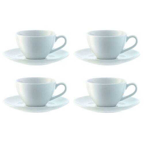 LSA Набор кофейных пар Dine 100 мл, 4 шт белый lsa набор кофейных пар fir metallic 4 предмета 100 мл белый золотистый