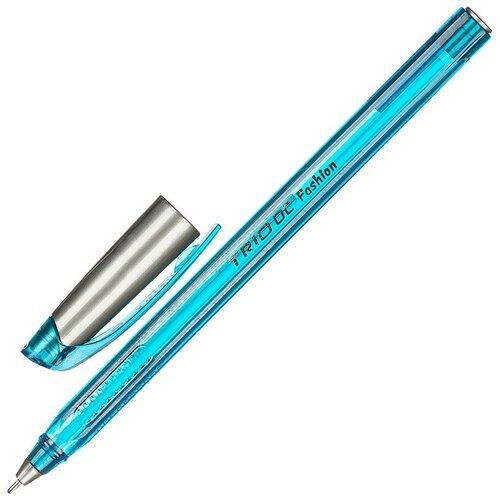 Купить Ручка шариковая Unimax Trio DC Fashion 1мм, голуб, масл, треуг, неавтомат 7 штук, Ручки