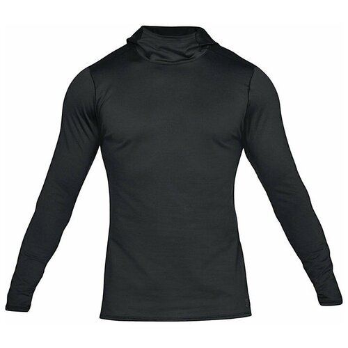 Толстовка Under Armour ColdGear Fitted Hoodie размер LG black/charcoal леггинсы under armour heatgear armour 1331723 размер ymd black
