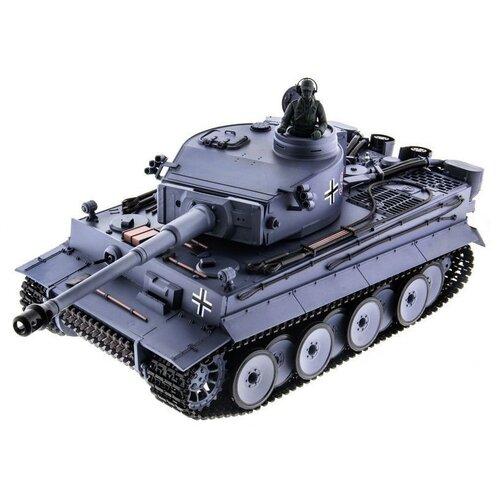 Фото - Радиоуправляемый танк Heng Long Tiger I Original V6.0 2.4G 1/16 RTR радиоуправляемый танк heng long радиоуправляемый мини танковый бой cs toys 9819