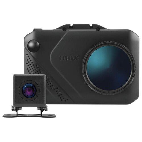 Видеорегистратор с радар-детектором iBOX Nova LaserVision WiFi Signature Dual + камера заднего вида, 2 камеры, GPS, ГЛОНАСС, черный