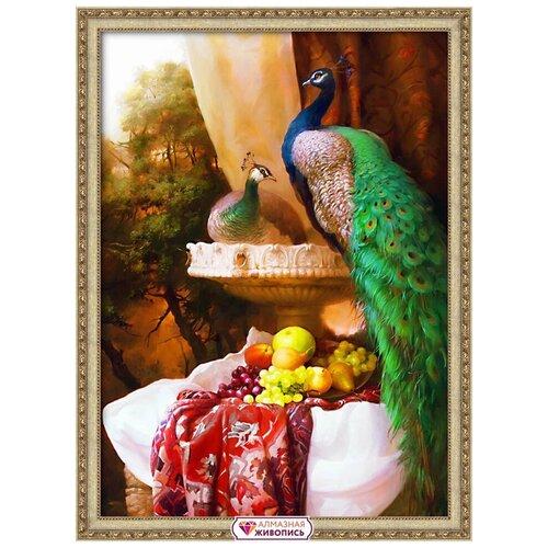 Фото - АЖ-1825 Картина стразами «Пара павлинов» 50*70см павлинов