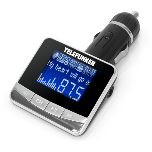 FM-трансмиттер TELEFUNKEN TF-FMT12 черный