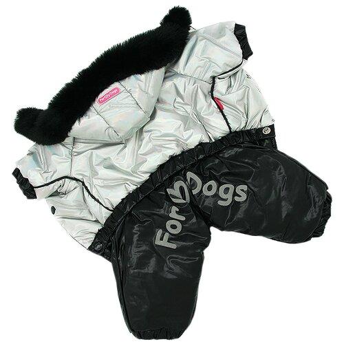 Комбинезон для собак ForMyDogs FW925-2020 F (10Chh) черно-серебряный комбинезон для собак formydogs fw925 2020 f 16 черно серебряный