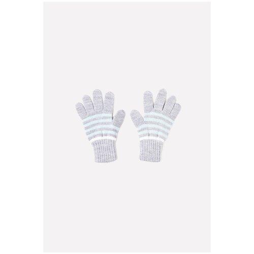 Перчатки crockid К 148/ш размер 13, светло-серый меланж/светлая бирюза