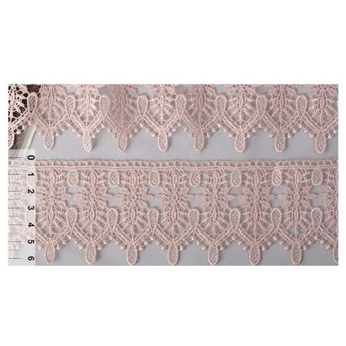 Купить Кружево гипюр KRUZHEVO TR.4G8596A шир.65мм цв.05 розовая пудра уп.9м, Декоративные элементы