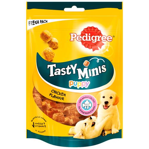 Фото - Лакомство для собак Pedigree Tasty Bites Puppy ароматные кусочки с курицей, 125 г pedigree pedigree ranchos лакомство для собак с говядиной 58 г