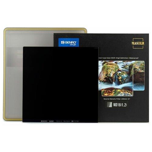 Фото - Benro Master Series ND16 (1.2) Square Filter 150х150 мм светофильтр нейтрально-серый фоторюкзак benro hummer 100 голубой св серый