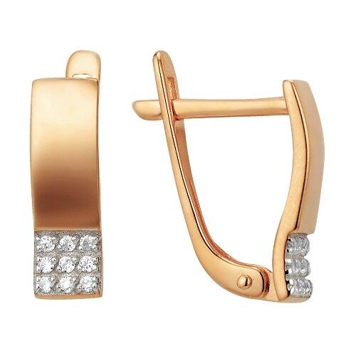 Сорокин Золотые серьги с фианитами 40114300