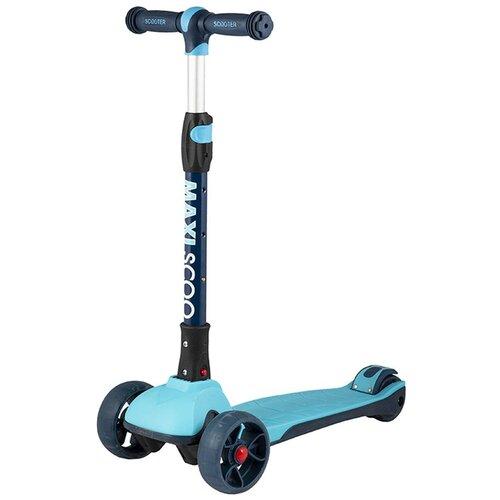 Детский городской самокат Maxiscoo Junior Plus, голубой