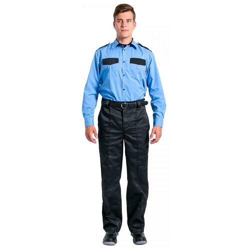 Фото - Рубашка охранника с длинным рукавом мужская, голубой (размер 49; 170-176) сорочка мужская vester 68814 41s 170 176