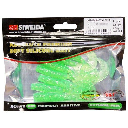 Набор приманок резина SIWEIDA Fat Tail Grub твистер цв. 164 7 шт.