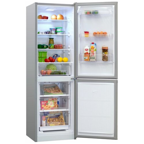 Двухкамерный холодильник NordFrost NRB 152 NF 332 серебристый