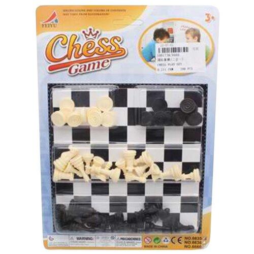 Купить Игра настольная 2в1, в комплекте игровое поле 16х16см, шахматы, шашки Shantoy Gepay 6666, Наша игрушка, Настольные игры