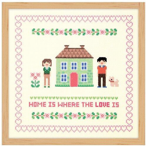 Купить Набор для вышивания Дом зелёного цвета XIU Crafts 2870710, Наборы для вышивания