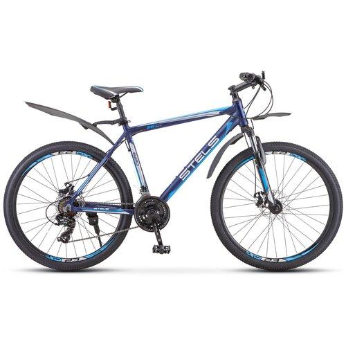 велосипед stels navigator 620 md 26 v010 19 тёмно синий Горный (MTB) велосипед Stels Navigator 620 MD V010 26 (2019) 19 темно-синий