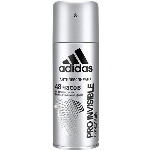 Adidas Антиперспирант спрей Pro Invisible, 150 мл дезодорант антиперспирант спрей adidas 6 в 1 150 мл