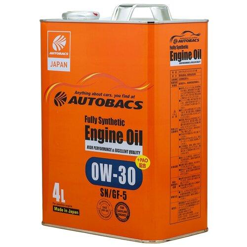 Синтетическое моторное масло Autobacs Fully Synthetic 0W-30 SN/GF-5 4 л