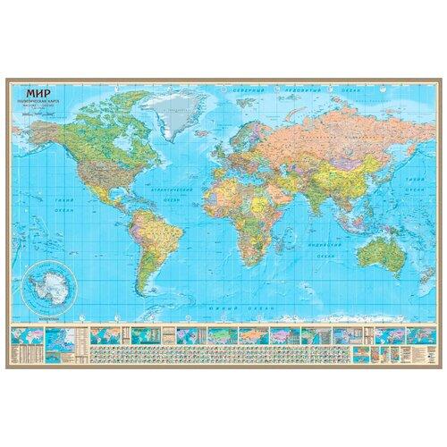 Геоцентр Карта Мира политическая (МИР17АГТ), 230 × 154 см