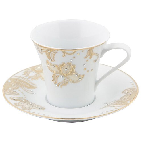 HARMONIE чайная чашка с блюдцем PORLAND 90 мл, белый, золотой, 04A+P015838