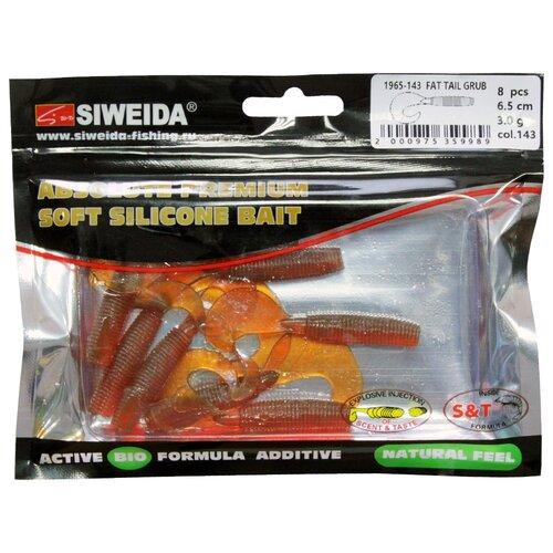 Набор приманок резина SIWEIDA твистер Fat Tail Grub цв. 143 8 шт.