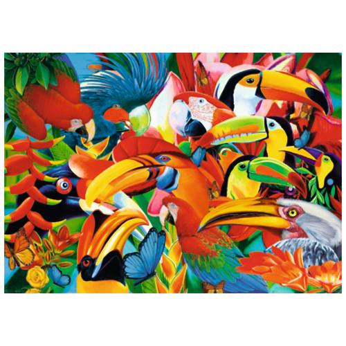 Пазл Trefl Цветные птицы, 500 эл. 37328, Пазлы  - купить со скидкой