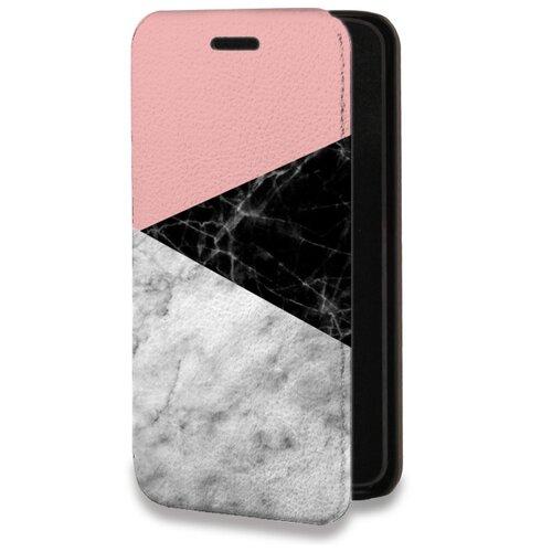 Дизайнерский горизонтальный чехол-книжка для Samsung Galaxy S20 Plus Мраморные тренды