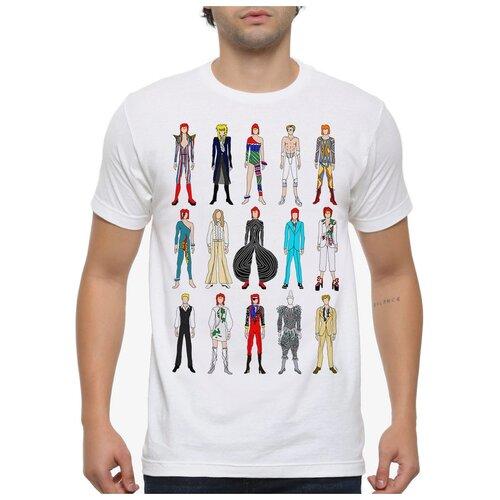 Футболка Dream Shirts Образы Дэвида Боуи Мужская XS Белая