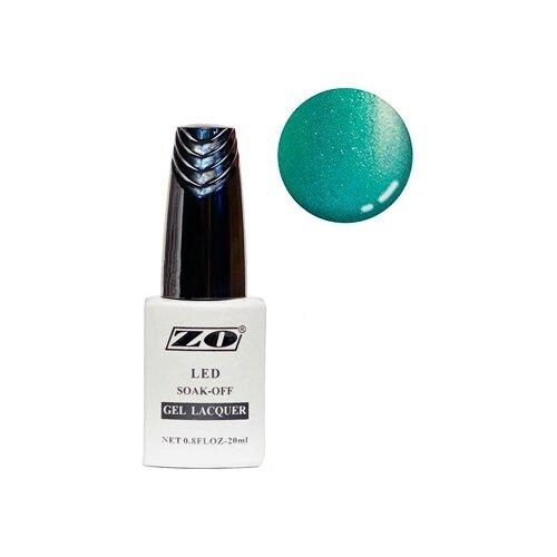 Купить Гель-лак для ногтей ZO GL, 20 мл, 268 бирюзовый шиммер