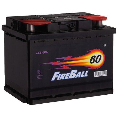 Автомобильный аккумулятор FireBall 6СТ-60N прямая полярность